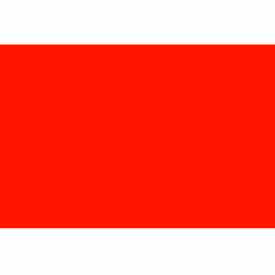 """3"""" x 10"""" Fluorescent Red Rectangle"""