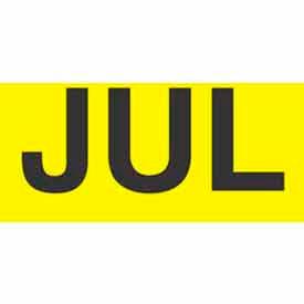 "Jul 2"" x 3"" - Bright Yellow / Black"
