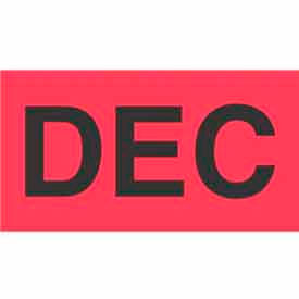 "Dec 2"" x 3"" - Fluorescent Red / Black"