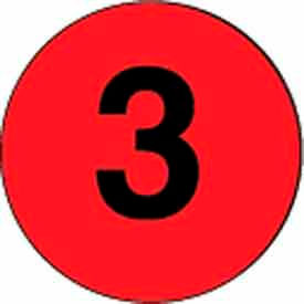"""4"""" Dia. Red Discs With Black #3 - Fluorescent Red / Black"""