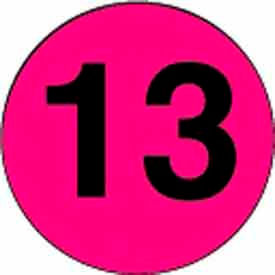 """4"""" Dia. Disc With #13 - Fluorescent Pink / Black"""