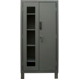 """Durham Heavy Duty Access Control Cabinet with Electronic Lock 3702CXC-BLP4S-95 - 24""""W x 36""""D x 78""""H"""