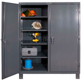 "Durham Heavy Duty Double Shift Storage Cabinet HDDS247266-6S95 - 12 Gauge 72""W x 24""D x 66""H"