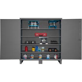 """Global™ 12 Gauge Heavy Duty 72"""" W x 24"""" D x 78"""" H Cabinet, Gray"""