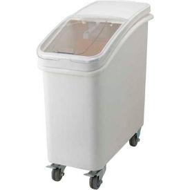 Winco IB-21 – Bac mobile pour ingrédients avec couvercle, polyéthylène, 21 gal, blanc