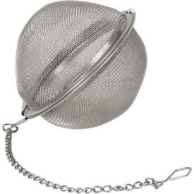 """Winco STB-5 Tea Infuser Ball W/ Chain, 2""""D, Stainless Steel - Pkg Qty 12"""