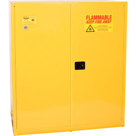 Eagle Drum Storage Cabinet 110 Gallon Manual Close Vertical Flammable Yellow