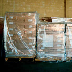 """LDPE Pallet Cover 85"""" x 51"""" for Pallet Size 48"""" x 48"""" x 60"""" 3 Mil Clear 50 Pack"""