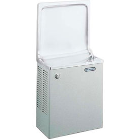 Elkay Simulated Semi-Recessed Water Cooler, Stainless Steel, Wall Hung, 115V, 4.8 Amps, ESWA8S1Z