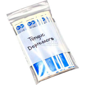 """Clear Line Single Track Seal Top Bag with Write-On Block, 4 mil, 3"""" x 5"""", Pkg Qty 1000"""