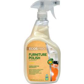 Cire pour meubles ECOS® Pro, agrumes, flacon pulvérisateur de 32 oz, 6 flacons – PL9731/6