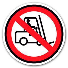 """Durastripe 30"""" Round Sign - No Forklift - No Text"""