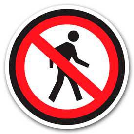 """Durastripe 32"""" Round Sign - No Pedestrian - No Text"""