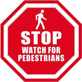 """Durastripe 12"""" Octagone Sign - Stop Watch For Pedestrians"""