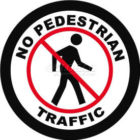 "Durastripe 12"" Round Sign - No Pedestrian Traffic"