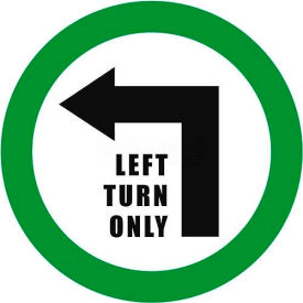 "Durastripe 12"" Round Sign - Left Turn Only"