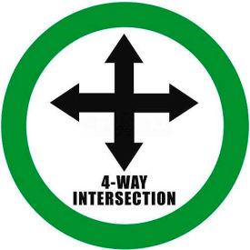 """Durastripe 12"""" Round Sign - 4-Way Intersection"""