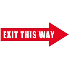 Durastripe 12X4 Arrow Sign - Exit This Way