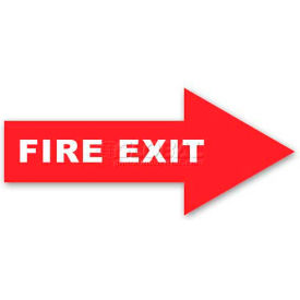 Durastripe 12X4 Arrow Sign - Fire Exit