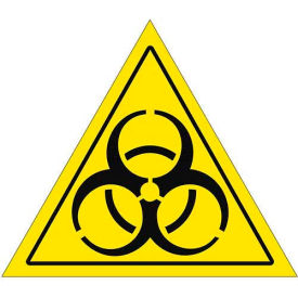 "Durastripe 16"" Triangular Sign - Caution Biohazard"