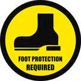 """Durastripe 16"""" Round Sign - Foot Protection Required"""