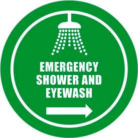 """Durastripe 16"""" Round Sign - Emergency Shower And Eyewash"""