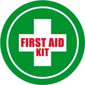 """Durastripe 16"""" Round Sign - First Aid Kit"""