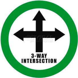 """Durastripe 16"""" Round Sign - 3-Way Intersection"""