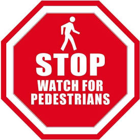 "Durastripe 20"" Octagone Sign - Stop Watch For Pedestrians"