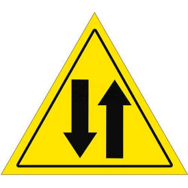 "Durastripe 20"" Triangular Sign - Caution 2 Way Traffic"