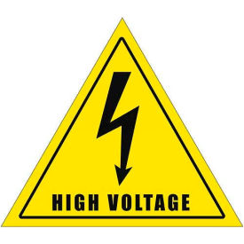 "Durastripe 20"" Triangular Sign - Caution High Voltage"