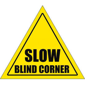 "Durastripe 20"" Triangular Sign - Caution Slow Blind Corner"