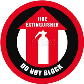 "Durastripe 20"" Round Sign - Fire Extinguisher Do Not Block"
