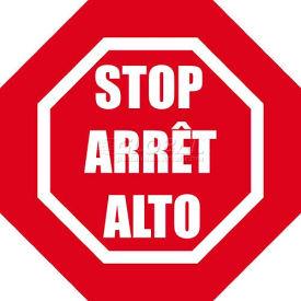 """Durastripe 24"""" Octagone Sign - Stop-Arret-Alto"""
