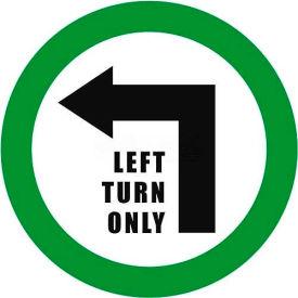 """Durastripe 24"""" Round Sign - Left Turn Only"""
