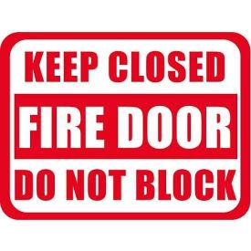 "Durastripe 24""X18"" Rectangle - Keep Closed Fire Door Do Not Block"