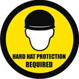 """Durastripe 30"""" Round Sign - Hard Hat Protection Required"""
