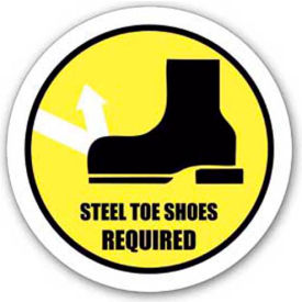 "Durastripe 30"" Round Sign - Steel Toe Shoes Required"