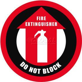 """Durastripe 30"""" Round Sign - Fire Extinguisher Do Not Block"""