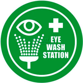 "Durastripe 30"" Round Sign - Eye Wash Station"