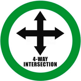 """Durastripe 30"""" Round Sign - 4-Way Intersection"""