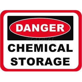 "Durastripe 30""X21"" Rectangle - Danger Chemical Storage"