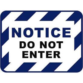 """Durastripe 30""""X21"""" Rectangle - Notice Do Not Enter"""