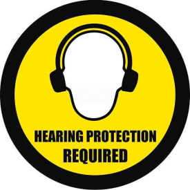 "Durastripe 32"" Round Sign - Hearing Protection Required"