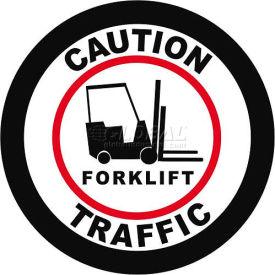 """Durastripe 32"""" Round Sign - Caution Forklift Traffic"""