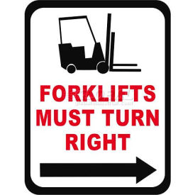 "Durastripe 36""X27"" Rectangle - Forklifts Must Turn Right"