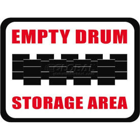 "Durastripe 50""X32"" Rectangle - Empty Drum Storage Area"