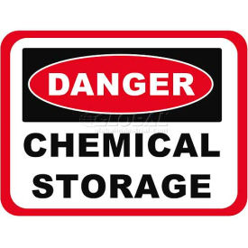 "Durastripe 50""X32"" Rectangle - Danger Chemical Storage"
