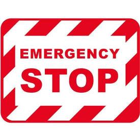 "Durastripe 50""X32"" Rectangle - Emergency Stop"