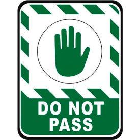 "Durastripe 50""X32"" Rectangle - Do Not Pass"